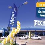 Lojas fechadas em Salto del Guairá dia 30 de julho