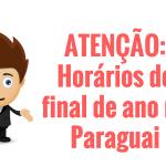 Horários de final de ano das lojas no Paraguai