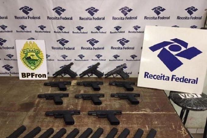 Polícia apreende armas de uso restrito na Ponte da Amizade